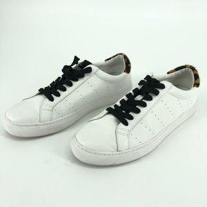 J Crew Saturday sneakers leopard calf hair detail